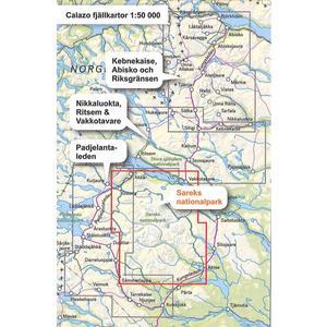 Calazo Sareks Nationalpark 1:50 000