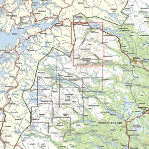 Calazo Kebnekaise, Abisko & Riksgränsen 1:50 000
