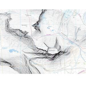 Calazo Högalpin Karta - Kebnekaise 1:15 000