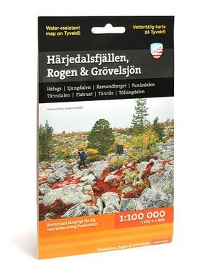 Calazo Härjedalsfjällen, Rogen, Grövelsjön 1:100 000